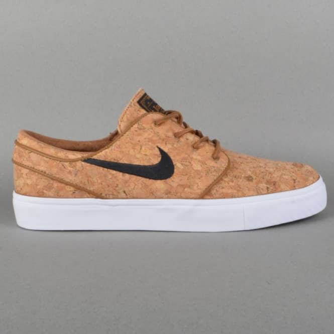 Nike SB Zoom Stefan Janoski Elite Skate Shoes - Ale Brown/Black-White Cork
