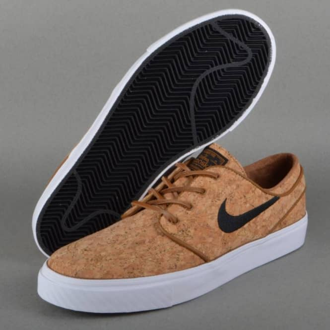 best sneakers 01466 a7a00 Zoom Stefan Janoski Elite Skate Shoes - Ale Brown/Black-White Cork