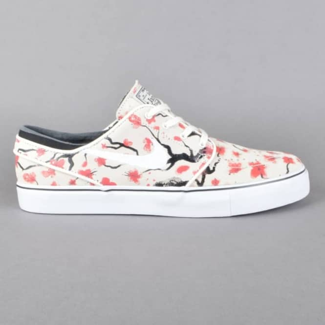 Zoom Stefan Janoski Elite Skate Shoes - Sail/White-Hyper Pink/Black