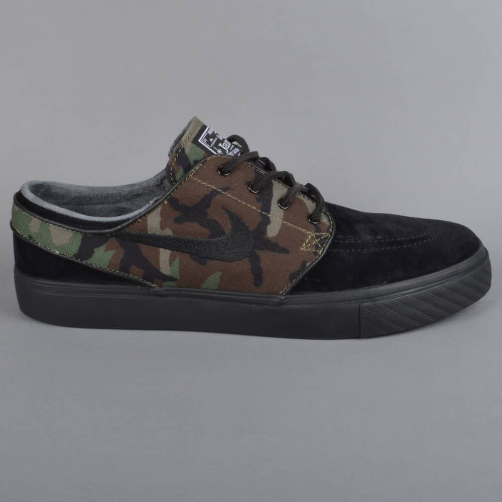 online retailer 16456 6492e Zoom Stefan Janoski OG Skate Shoes - Black Medium Olive White Black