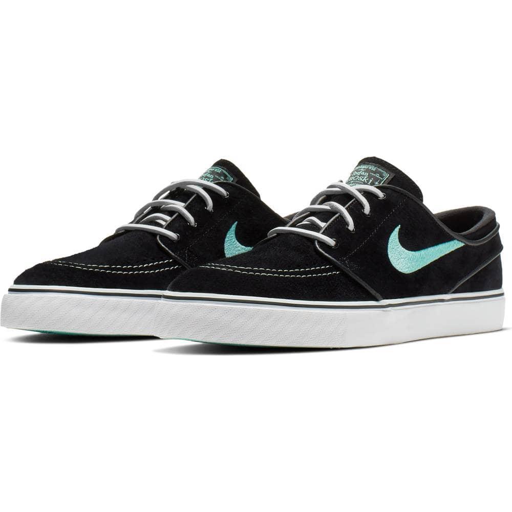 free shipping ce741 31f5a Nike SB Nike SB Zoom Stefan Janoski OG Skate Shoes - Black Mint-White