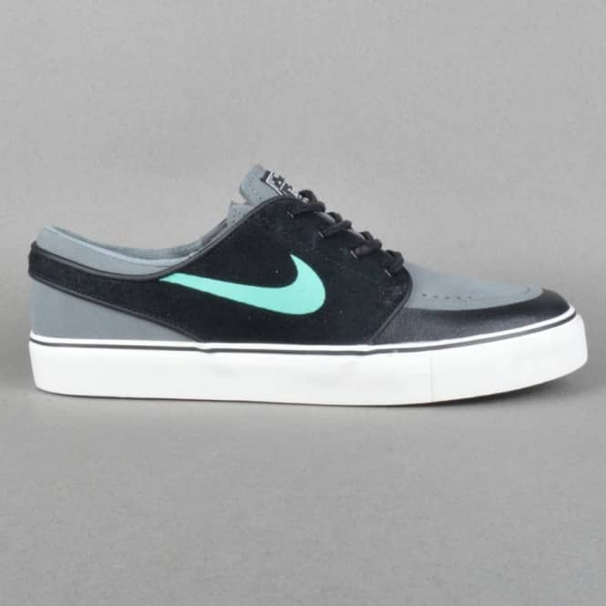 a42e9ebbf5ce Zoom Stefan Janoski PR SE Skate Shoes - Black Crystal Mint-Cool Grey Ivory
