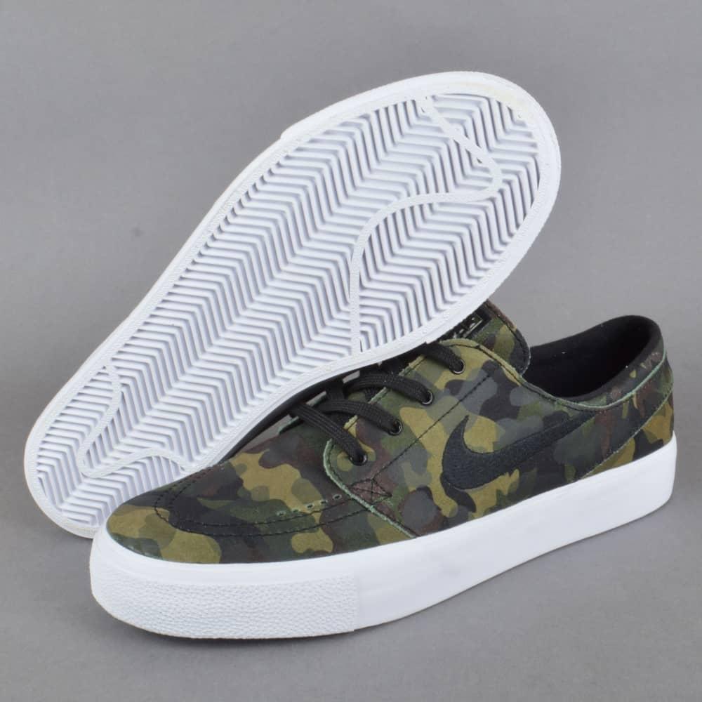 9e572a904b2f Zoom Stefan Janoski Prem HT Camo Skate Shoes - White Black White Multi-