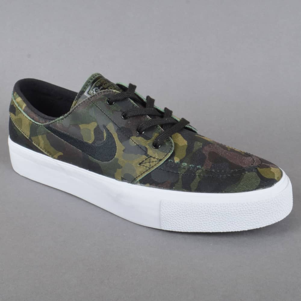 wholesale dealer aae6d fbba5 Zoom Stefan Janoski Prem HT Camo Skate Shoes - White Black White Multi-