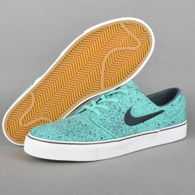 Nike SB Zoom Stefan Janoski Premium Skate Shoes Crystal MintBlack Gum Light Brown