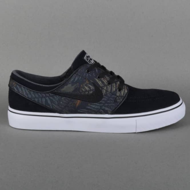 92be605f12 Nike SB Zoom Stefan Janoski Skate Shoes - Black Black-White Medium ...