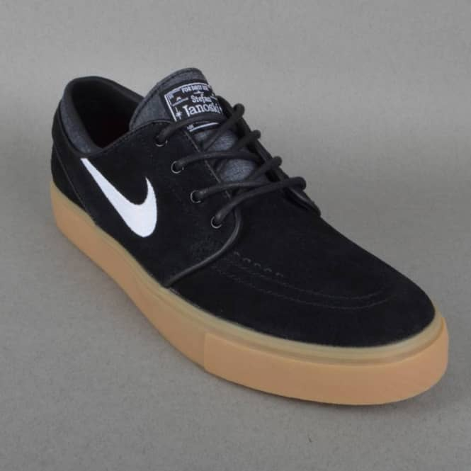 autumn shoes half price new york Nike SB Zoom Stefan Janoski Skate Shoes - Black/White-Gum Light Brown