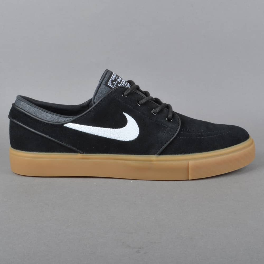 online retailer 76ce7 55f20 Zoom Stefan Janoski Skate Shoes - BlackWhite-Gum Light Brown