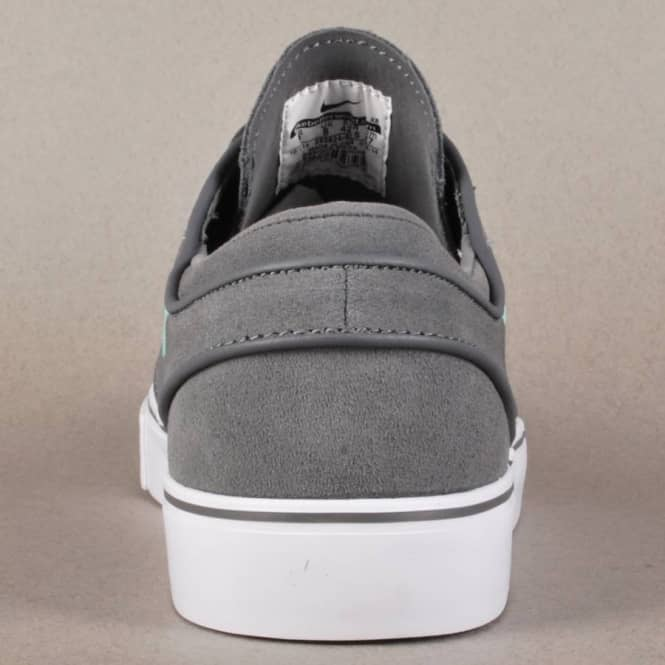 Zoom Stefan Janoski Skate Shoes - Dark Grey/Medium Mint