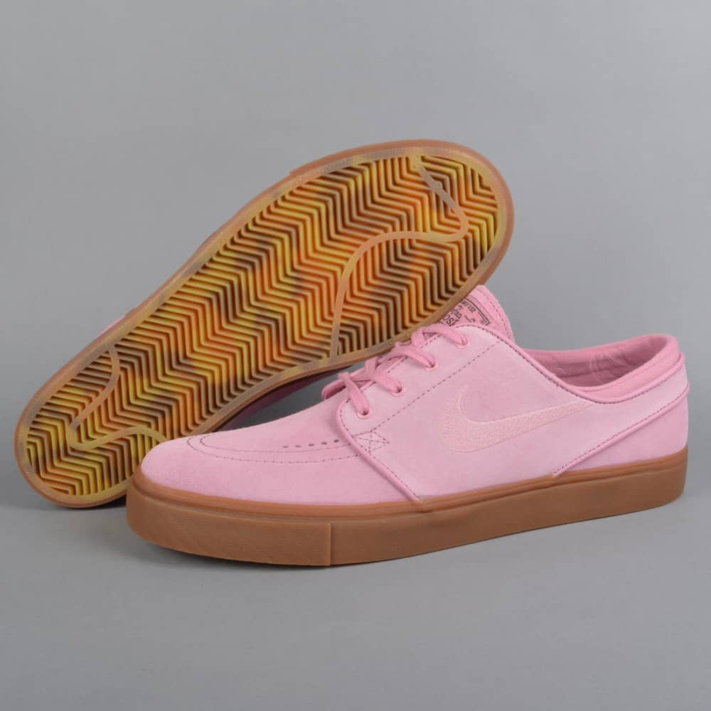 8609ef2661 Zoom Stefan Janoski Skate Shoes - Elemental Pink/Sequoia/Gum Dark  Brown/Elemental