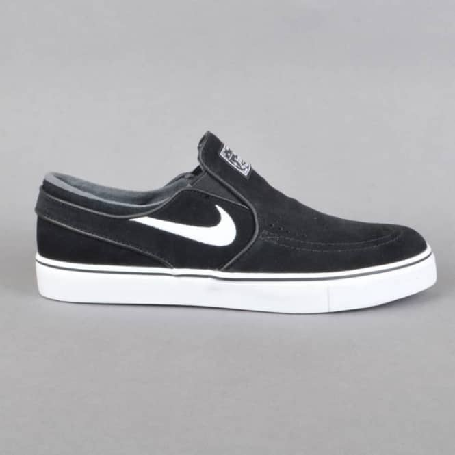 2fee3a8e5c37b1 Nike SB Zoom Stefan Janoski Slip Skate Shoes - Black White - SKATE ...