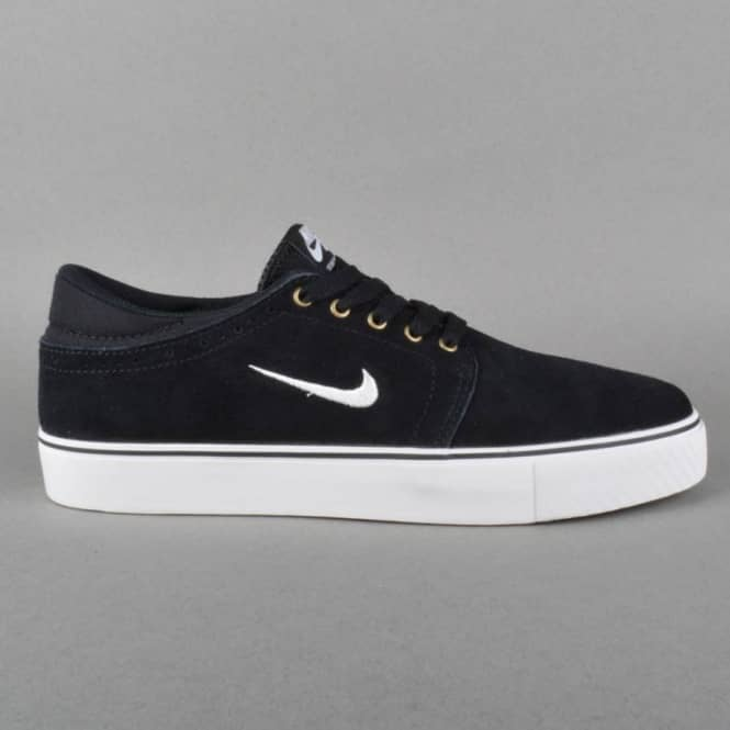Nike SB Zoom Team Edition Skate Shoes - Black/Swan Gum - Light Brown
