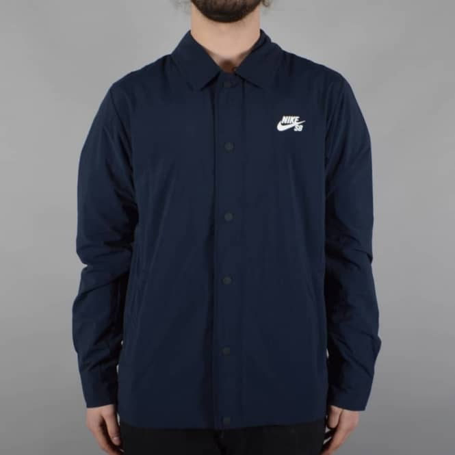 589819a062eb Nike SB Coaches Jacket - Navy - SKATE CLOTHING from Native Skate ...