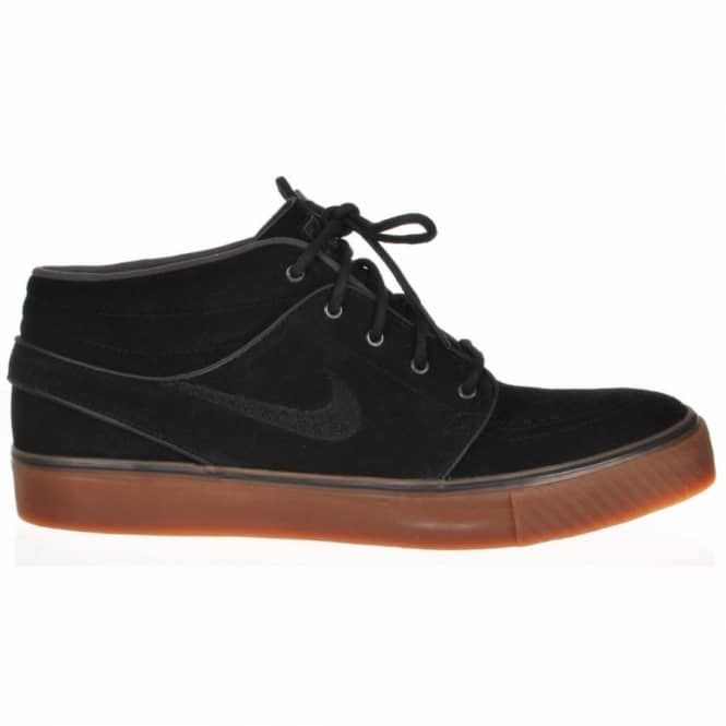 official photos e5818 6f4c8 Nike Zoom Stefan Janoski Mid Black/Black Gum Medium Brown Skate Shoes