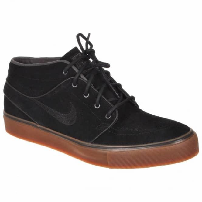 25510d6970af Nike SB Nike Zoom Stefan Janoski Mid Black Black Gum Medium Brown ...