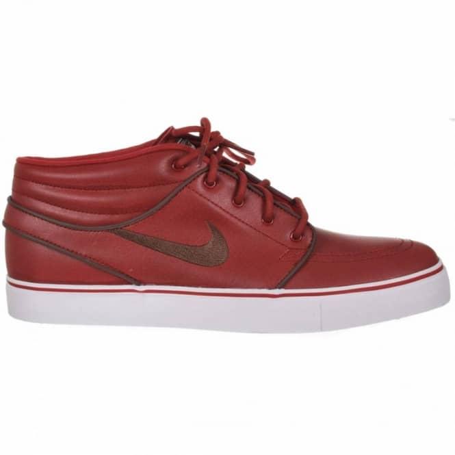 newest 924ea 251b0 Nike Zoom Stefan Janoski Mid Premium Barn Dark Oak White Skate Shoes