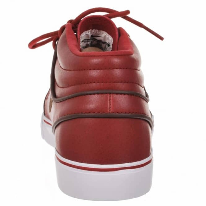 newest 4cce8 37d12 Nike Zoom Stefan Janoski Mid Premium Barn Dark Oak White Skate Shoes