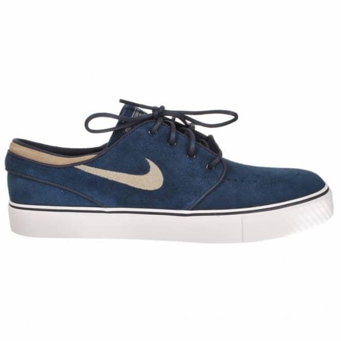 newest a55ee aaea0 Nike Zoom Stefan Janoski SB Obsidian Khaki Swan Skate Shoes