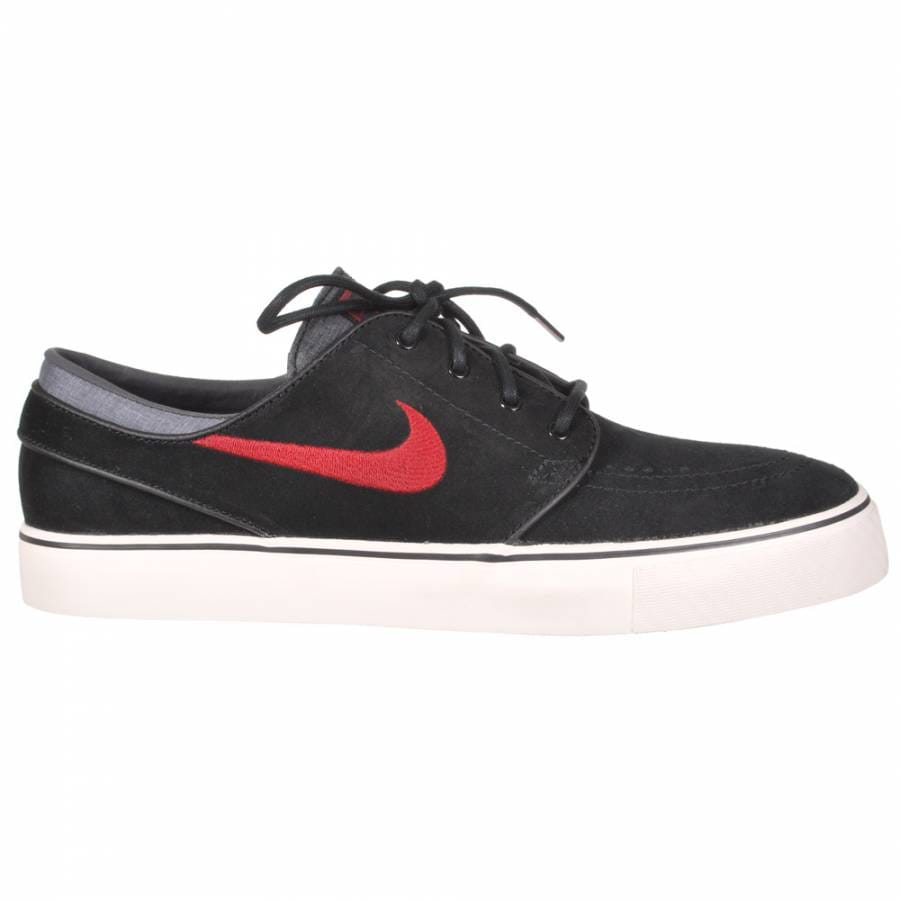 nike sb nike zoom stefan janoski sb skate shoes black team red sail nike sb from native. Black Bedroom Furniture Sets. Home Design Ideas