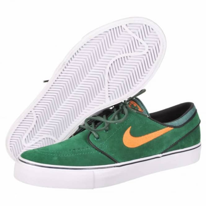 sale retailer 9a9c3 de506 Nike Zoom Stefan Janoski SB Skate Shoes - Gorge Green Total Orange-Black