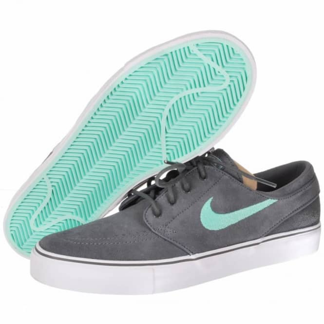 sports shoes ca1ce edb6c Nike Zoom Stefan Janoski Skate Shoes - Dark Grey Medium Mint