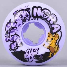 Nora Vasconcellos Cat + Mouse Purple 101A Skateboard Wheels 55mm