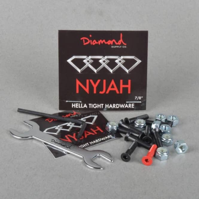 Diamond Supply Co. Nyjah Huston Hella Tight Hardware Skateboard Truck Bolts 0.78