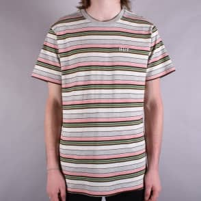 HUF Off Shore Stripe T-Shirt - Pink