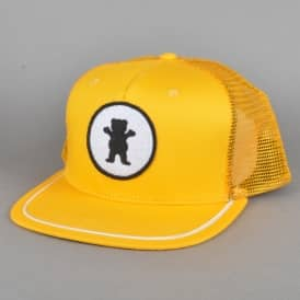 OG Bear Patch Trucker Cap - Yellow