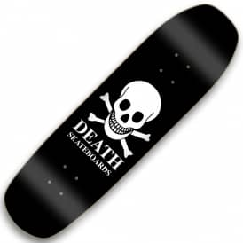 OG Black Skull Square Nose Pool Shape Skateboard Deck 9.0