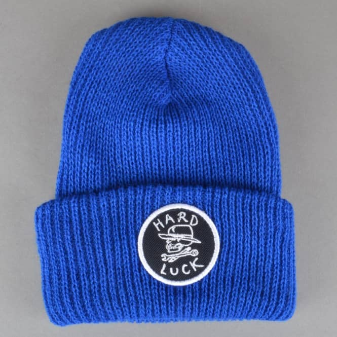 Hard Luck MFG OG Logo Circle Patch Beanie - Royal Blue