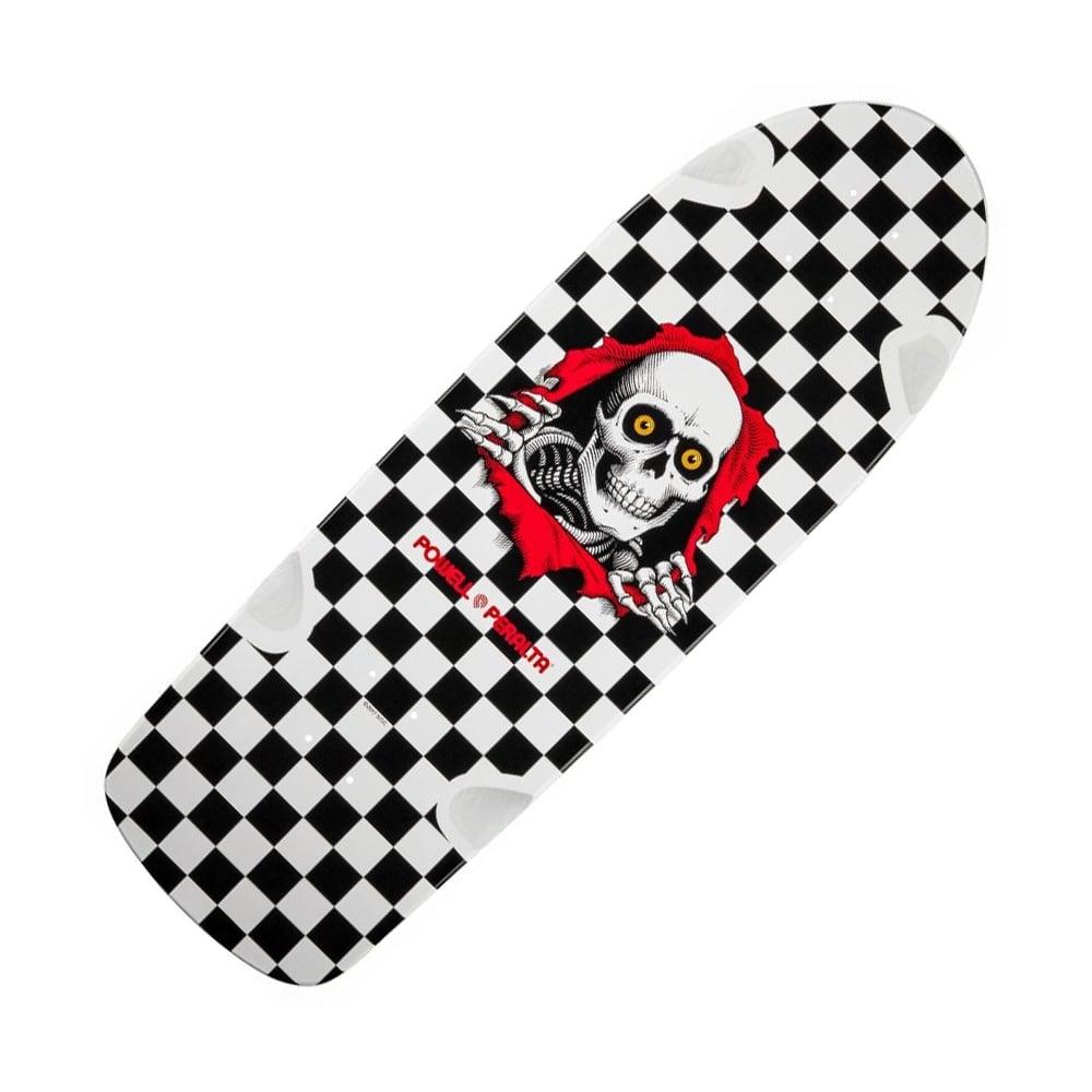 Old School Powell Peralta Checker Yellow Black OG Ripper Reissue Skateboard Deck