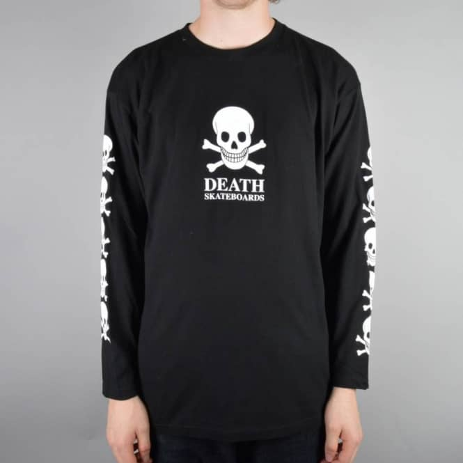 Death Skateboards OG Skull Long Sleeve Skate T-Shirt - Black