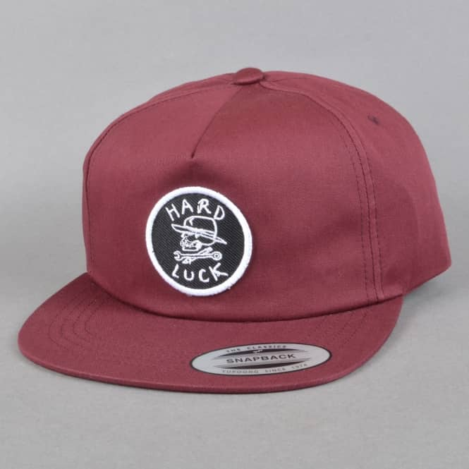 Hard Luck MFG OG Unstructured Snapback Cap - Burgundy