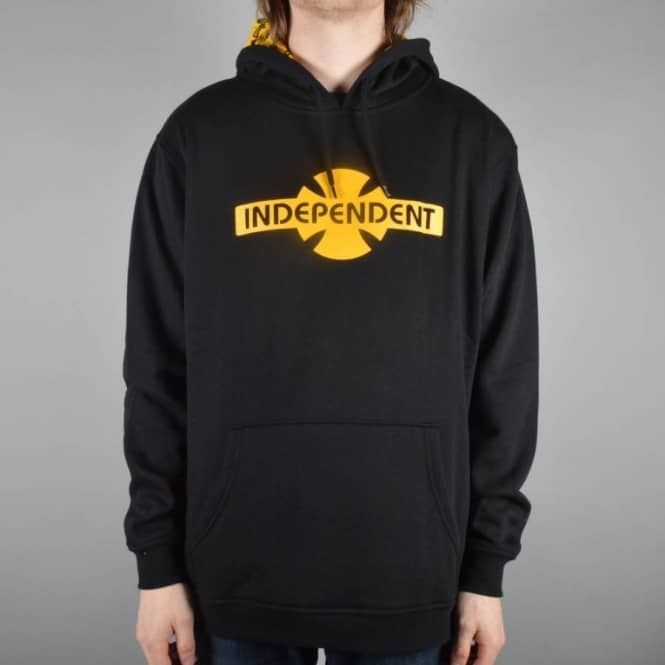 Independent Trucks OGBC Pattern Pullover Hoodie - Black/Yellow