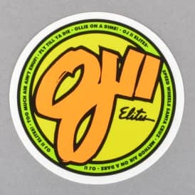 OJ2 Elites Clear Myler Skateboard Sticker - 3
