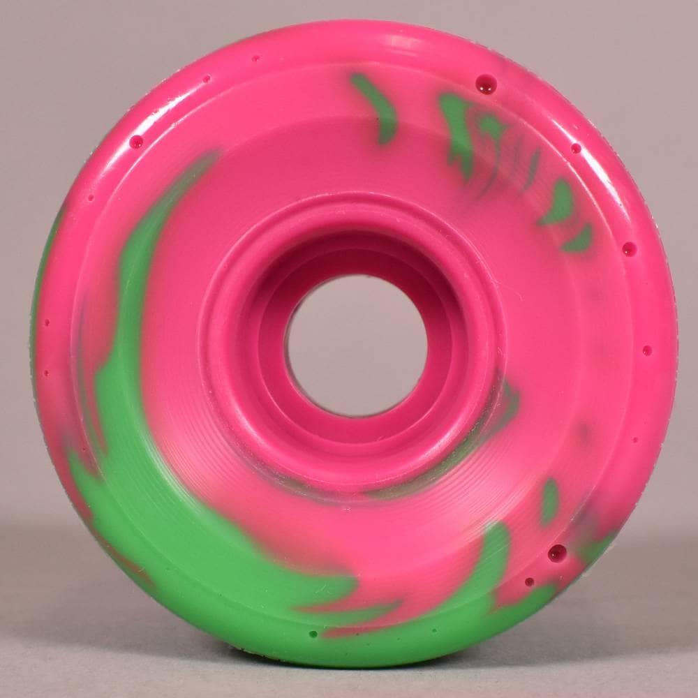 OJ Soft Wheels Super Juice Skateboard Wheels 78a Swirl Pink Green 60mm