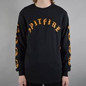 Old E Longsleeve T-Shirt - Black/Yellow