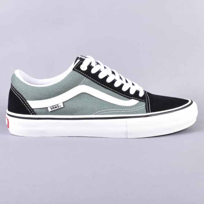 64bff8737e67 Vans Old Skool Pro Skate Shoes - Black Duck Green - SKATE SHOES from ...
