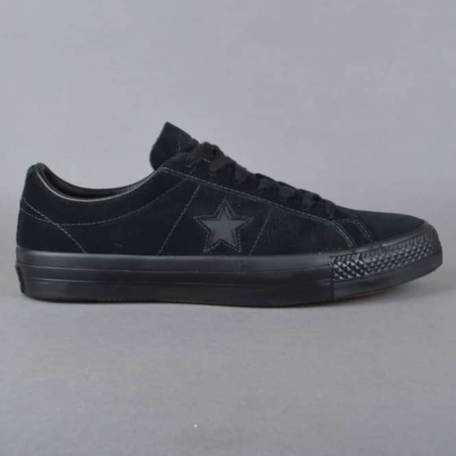 e12ff8424850 Converse One Star Pro OX Skate Shoes - Black Black - SKATE SHOES ...