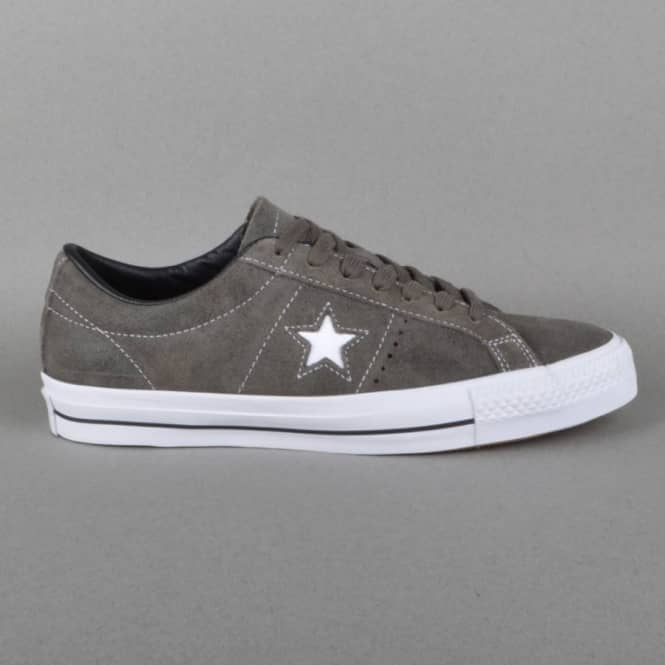 Converse One Star Pro Skate Shoes - Charcoal/Black