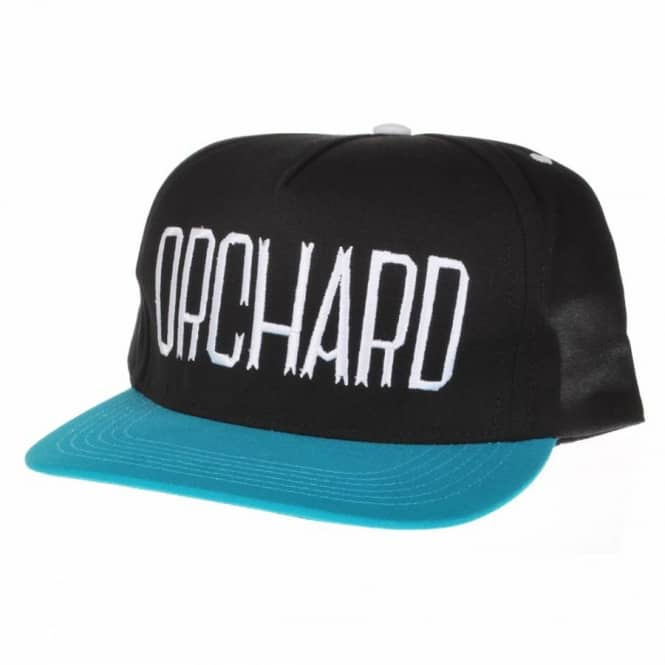 Orchard Orchard Duck Canvas Sherman Text Snapback Cap Black/Turquoise