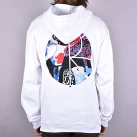 Orchid Fill Pullover Hoodie - White
