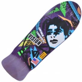 Vision Skateboards Original MG Reissue Modern Concave (Purple Stain/White) Skateboard Deck 10.0""