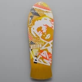 Vision Skateboards Original MG Reissue (Yellow Stain) Skateboard Deck 10.0""