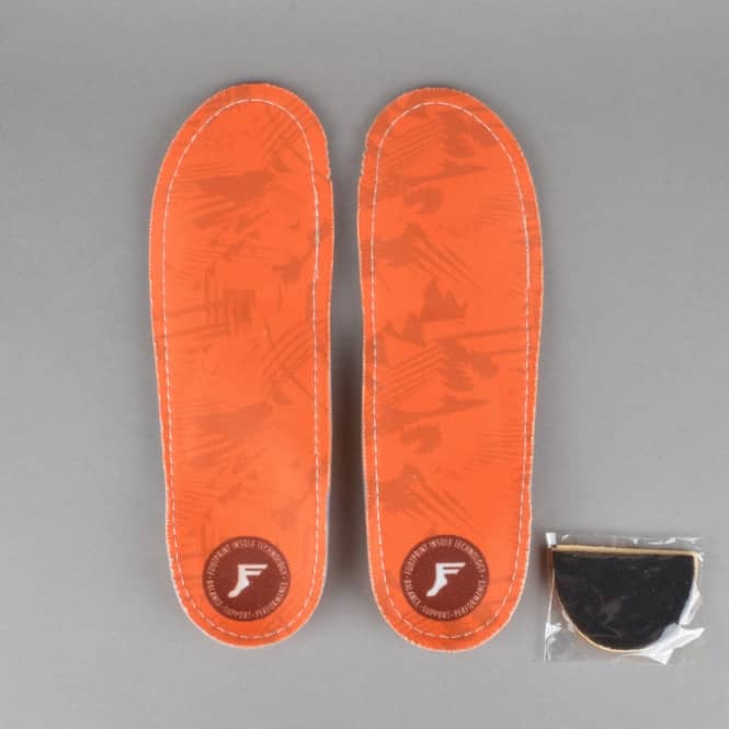 Footprint Insoles Orthotic High Profile Insole - Orange Camo