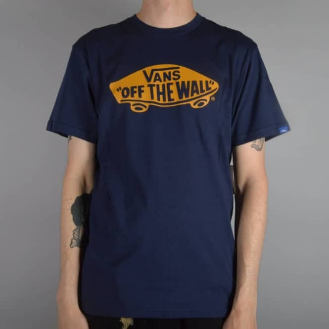Details zu Vans Men's Classic Logo T Shirt Red Blue BNWT VGGGTUV free UK RM24 delivery