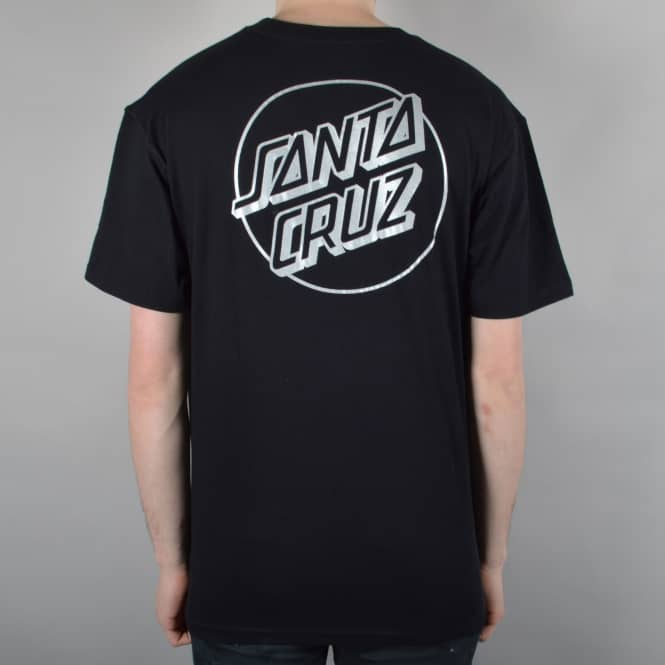 Santa Cruz Skateboards Outline Dot Skate T-Shirt - Black