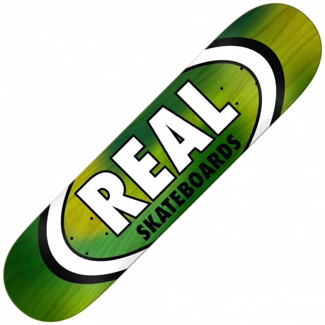 Real Skateboards Oval Tie Dye (Green) Skateboard Deck 8.5