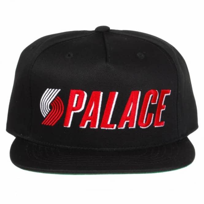 Palace Skateboards Palace Blazin  Snapback Cap - Black - Caps from ... 5dacc0c5c47
